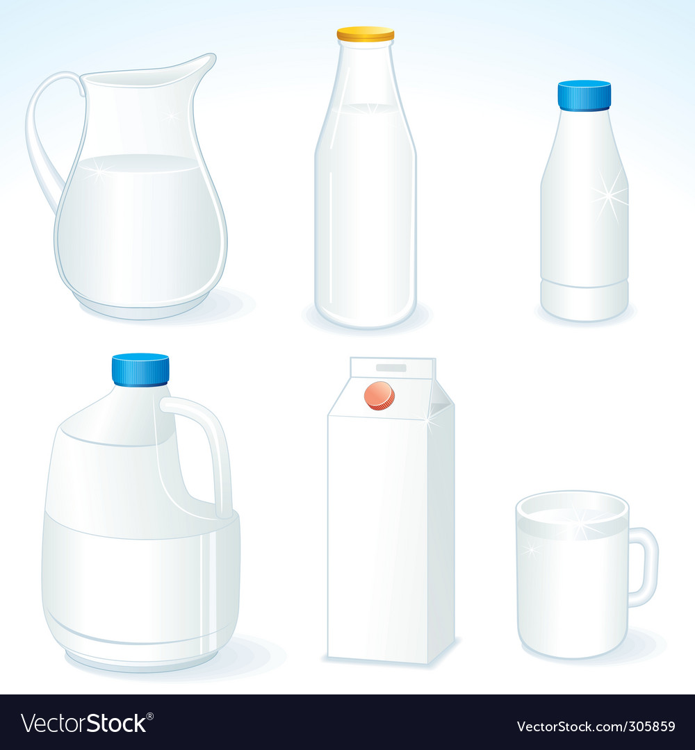 Milk packages vector | Price: 3 Credit (USD $3)