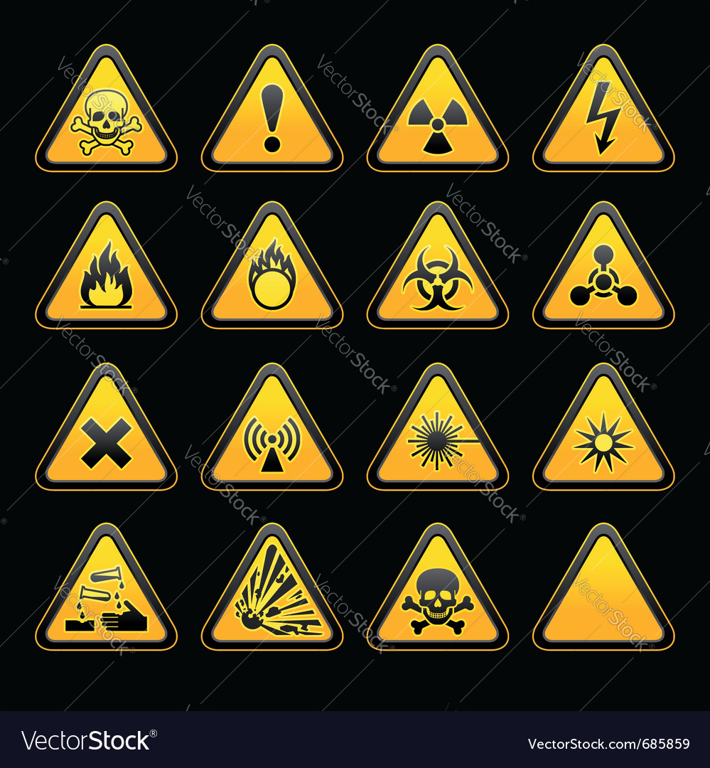 Triangular warning signs vector | Price: 1 Credit (USD $1)