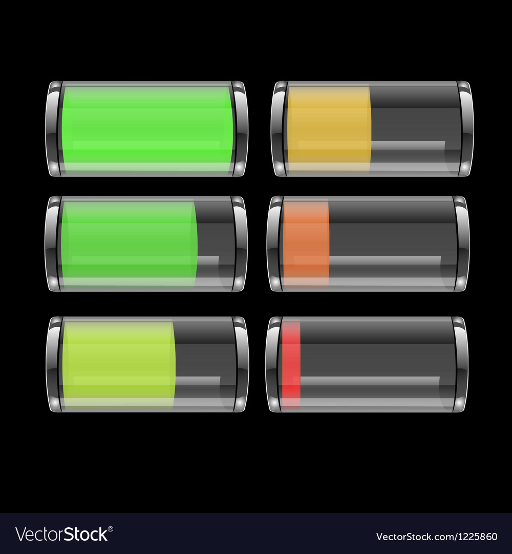 131 transparent battery icon vector | Price: 1 Credit (USD $1)