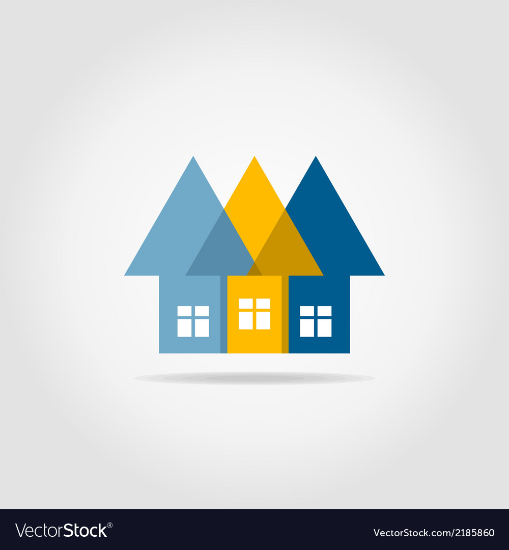 Arrows the house vector | Price: 1 Credit (USD $1)