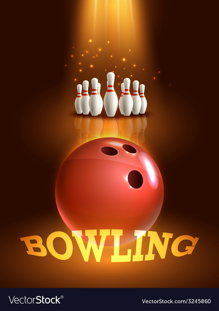 Bowling game poster vector | Price: 1 Credit (USD $1)