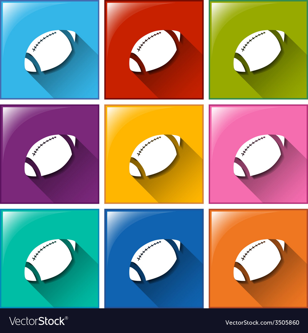 Buttons with a football equipment vector | Price: 1 Credit (USD $1)