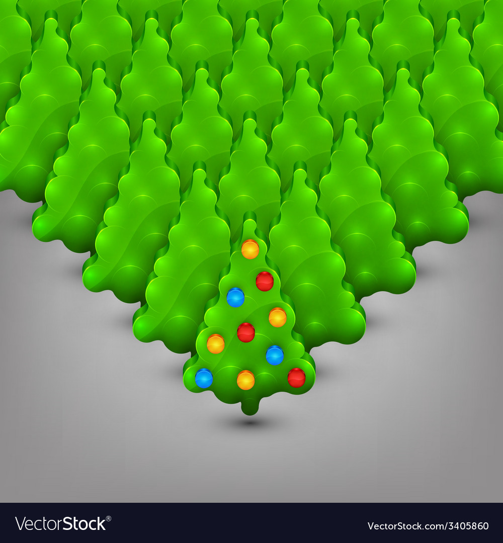 Christmas trees with toys vector | Price: 1 Credit (USD $1)