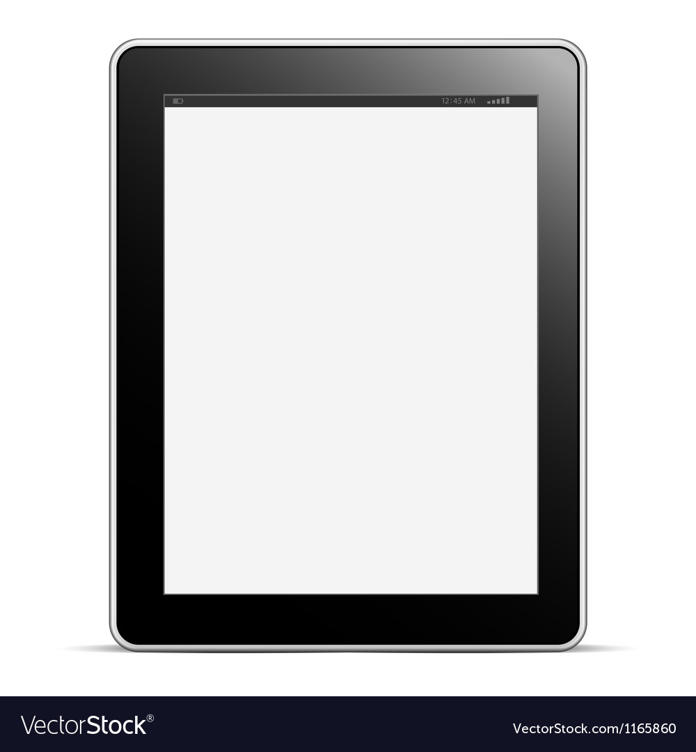 Digital tablet pc with blank screen isolated on vector | Price: 1 Credit (USD $1)