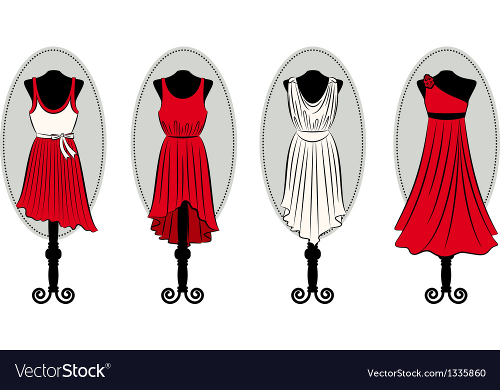 Dresses on a mannequin vector | Price: 1 Credit (USD $1)