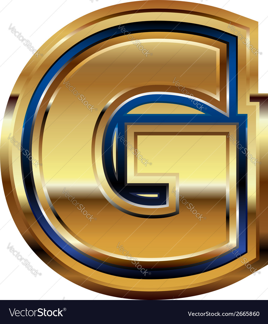 Golden font letter g vector | Price: 1 Credit (USD $1)