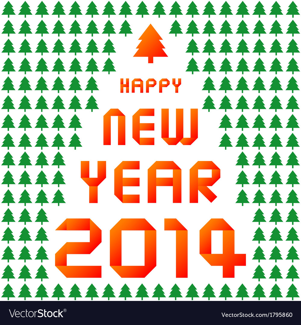 Happy new year 2014 card35 vector | Price: 1 Credit (USD $1)