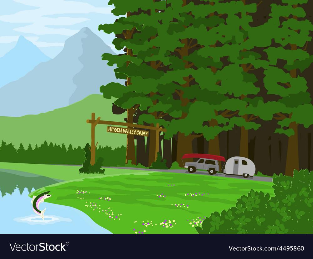 Hidden valley camp vector   Price: 1 Credit (USD $1)