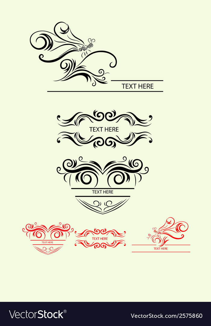 Label floral vector | Price: 1 Credit (USD $1)
