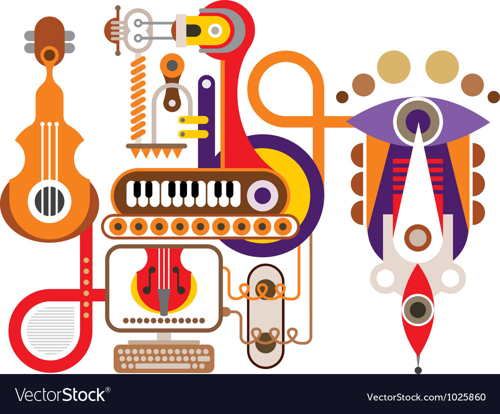 Music machine vector | Price: 1 Credit (USD $1)