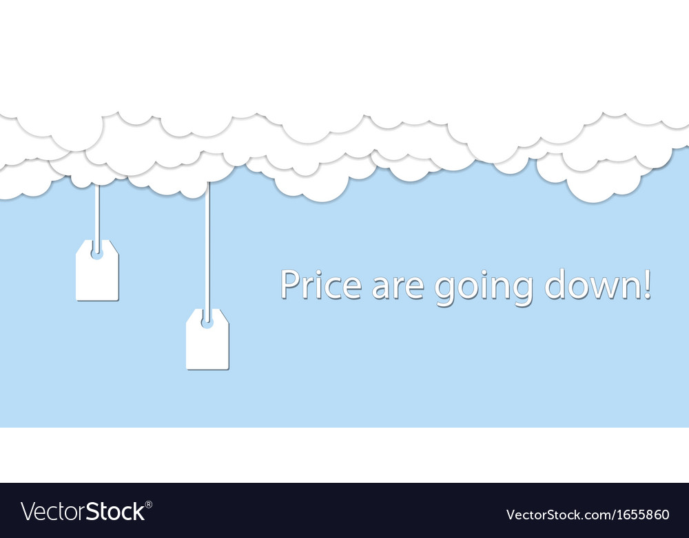 Price are going down vector | Price: 1 Credit (USD $1)