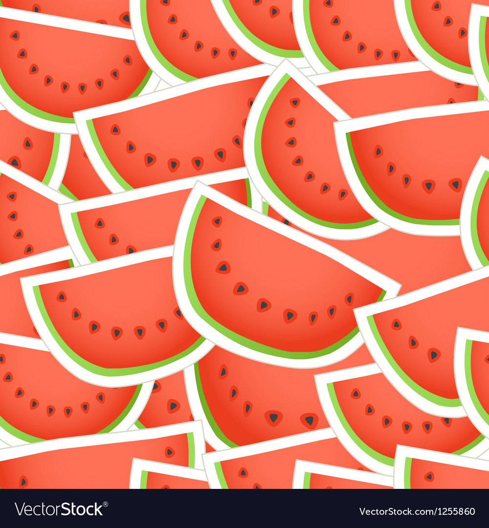 Red water melon seamless background vector | Price: 1 Credit (USD $1)