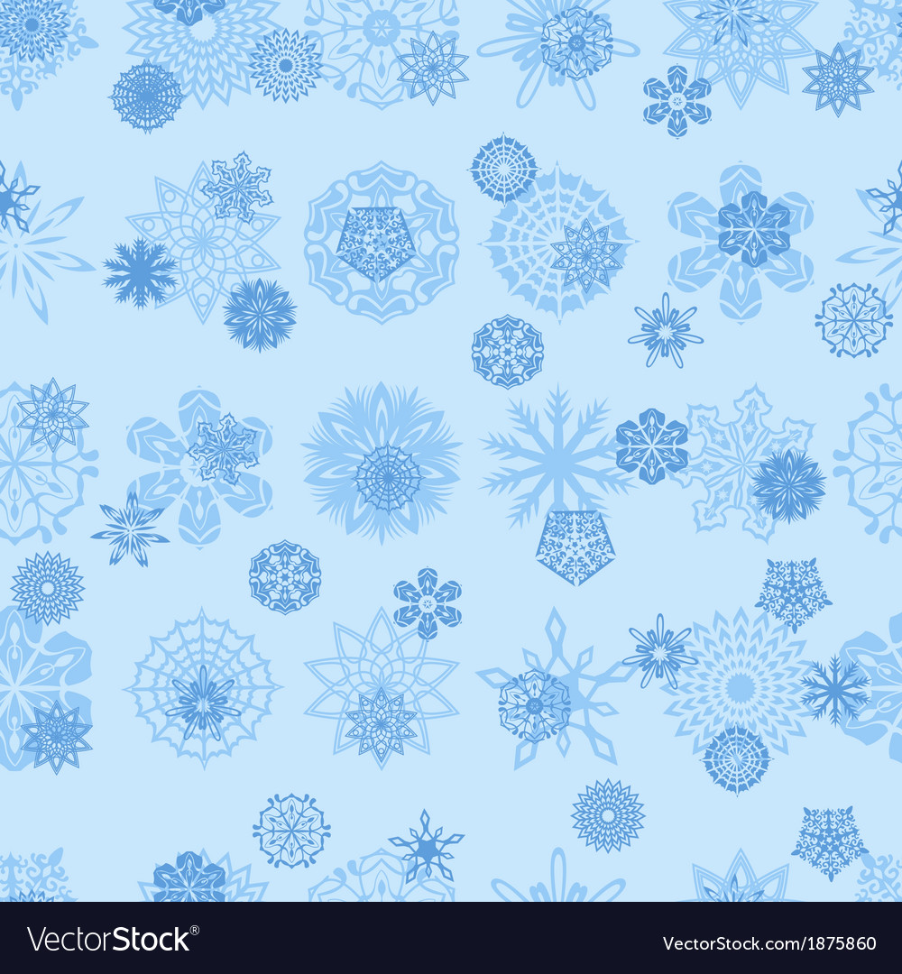 Seamless snowflakes 1 vector | Price: 1 Credit (USD $1)