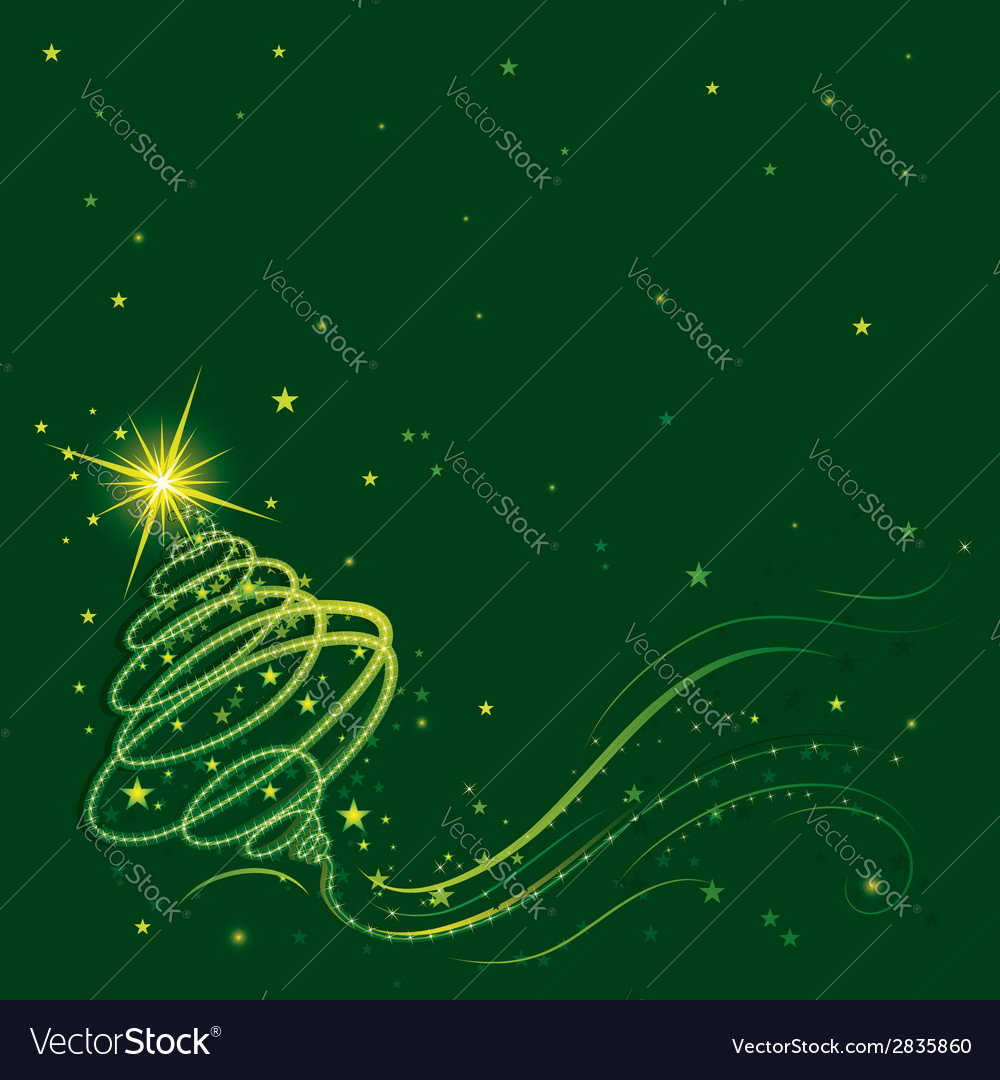 Shining christmas tree vector | Price: 1 Credit (USD $1)