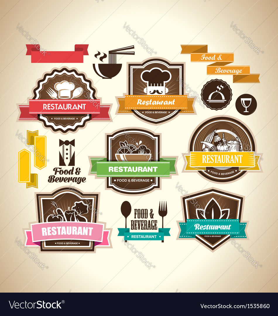 Vintage restaurant logo vector | Price: 1 Credit (USD $1)