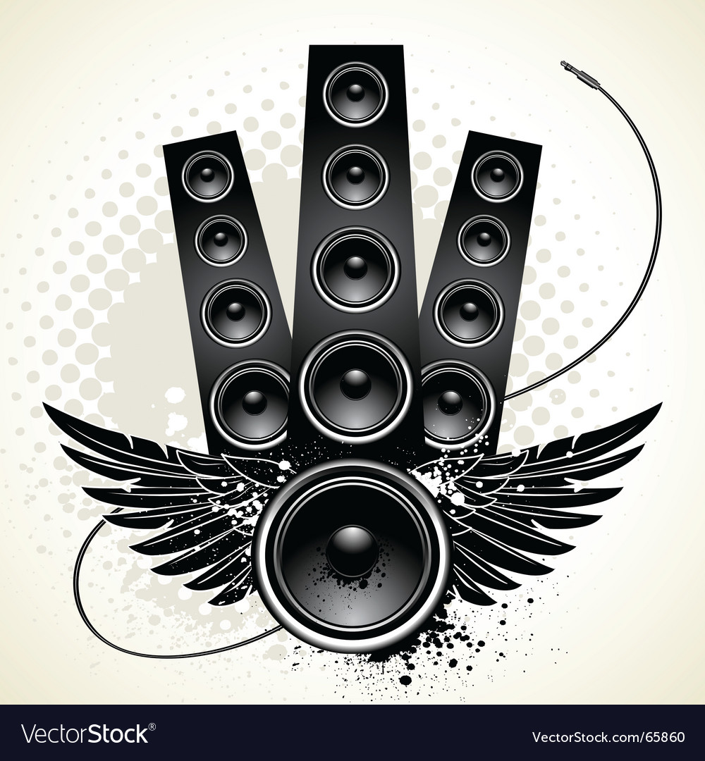 Wings speakers vector | Price: 1 Credit (USD $1)
