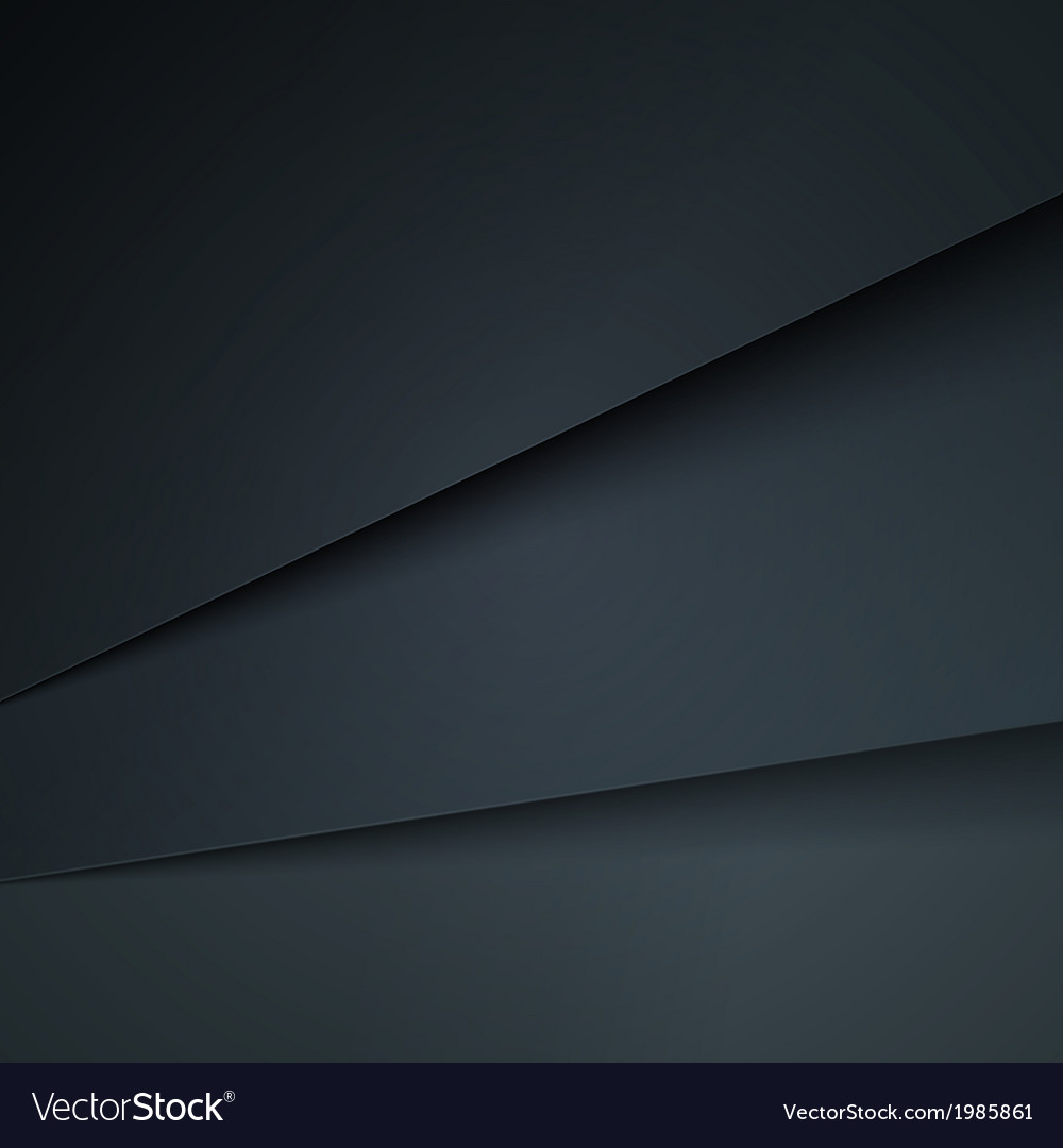 Abstract background with dark grey paper layers vector | Price: 1 Credit (USD $1)