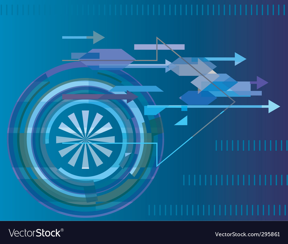 Abstract technology background with arrows vector   Price: 1 Credit (USD $1)