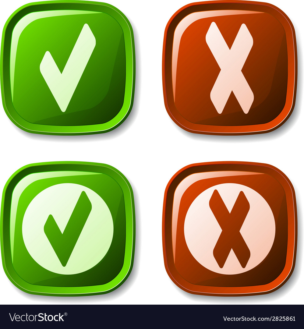 Check mark buttons vector | Price: 1 Credit (USD $1)