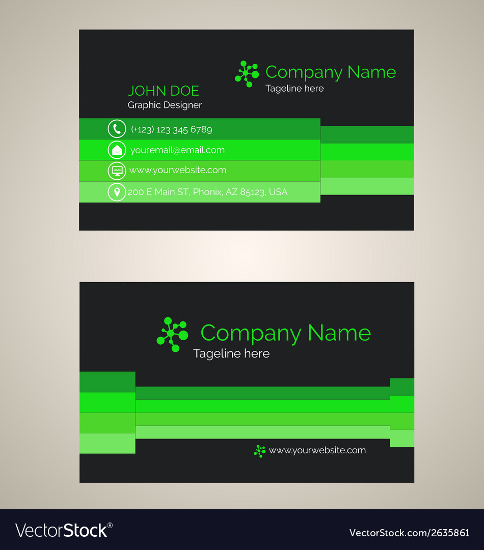 Corporate business card v 4 vector | Price: 1 Credit (USD $1)