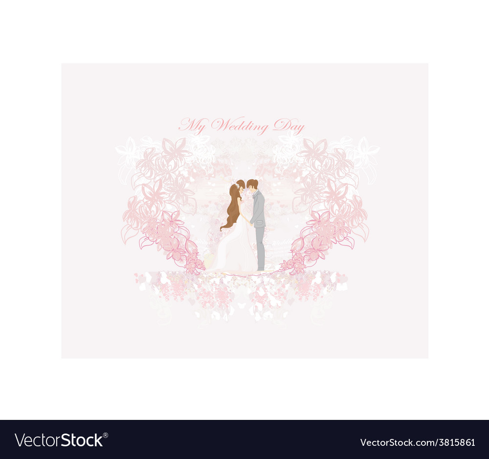 Elegant wedding invitation card with wedding vector | Price: 1 Credit (USD $1)