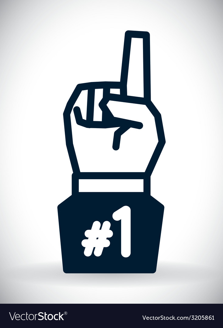 Hand gesture design vector | Price: 1 Credit (USD $1)