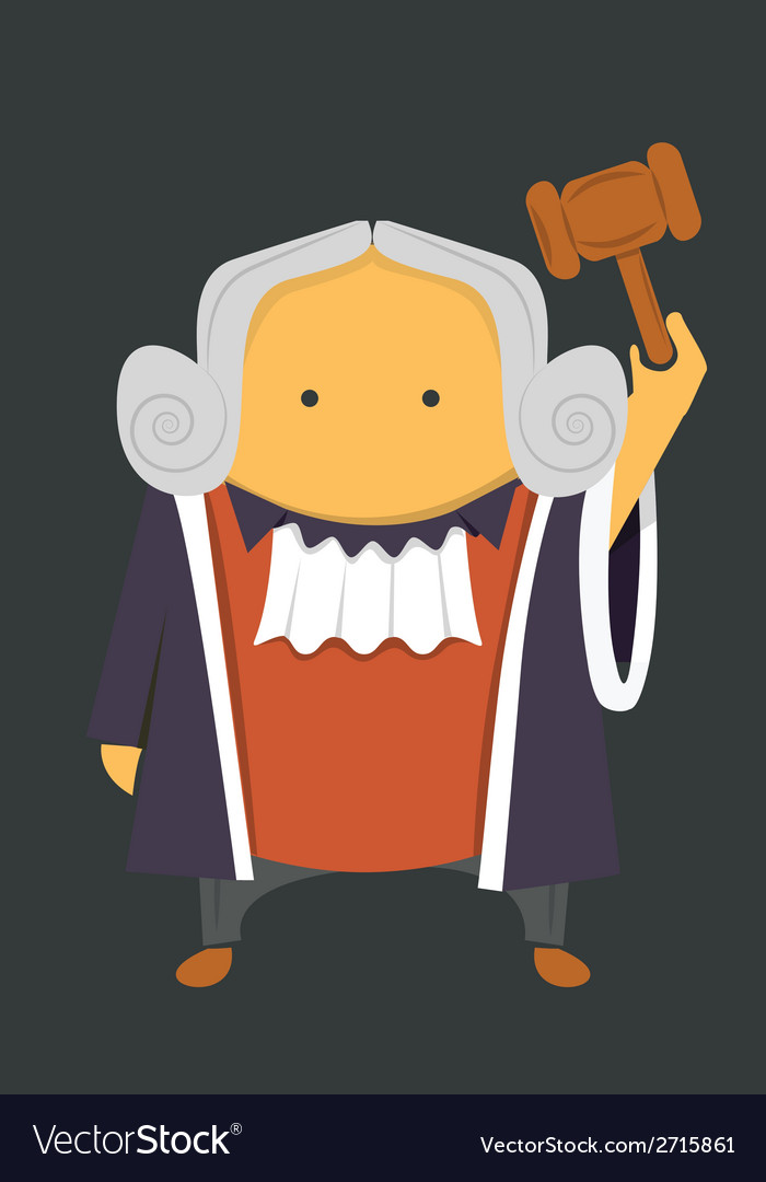 Judge with a hammer vector | Price: 1 Credit (USD $1)