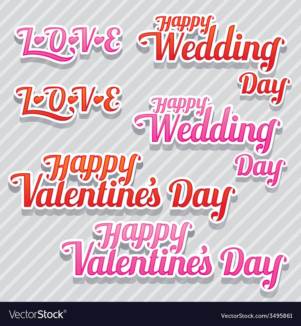 Love wedding and valentines text vector | Price: 1 Credit (USD $1)