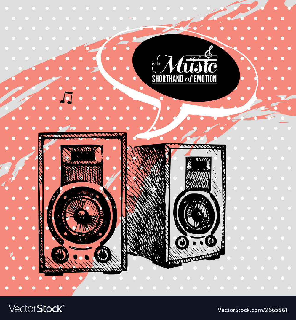 Music background hand drawn and typography design vector   Price: 1 Credit (USD $1)