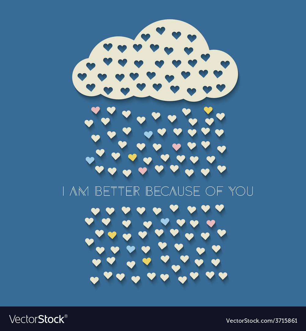 Paper heart from cloud on dark blue vector | Price: 1 Credit (USD $1)