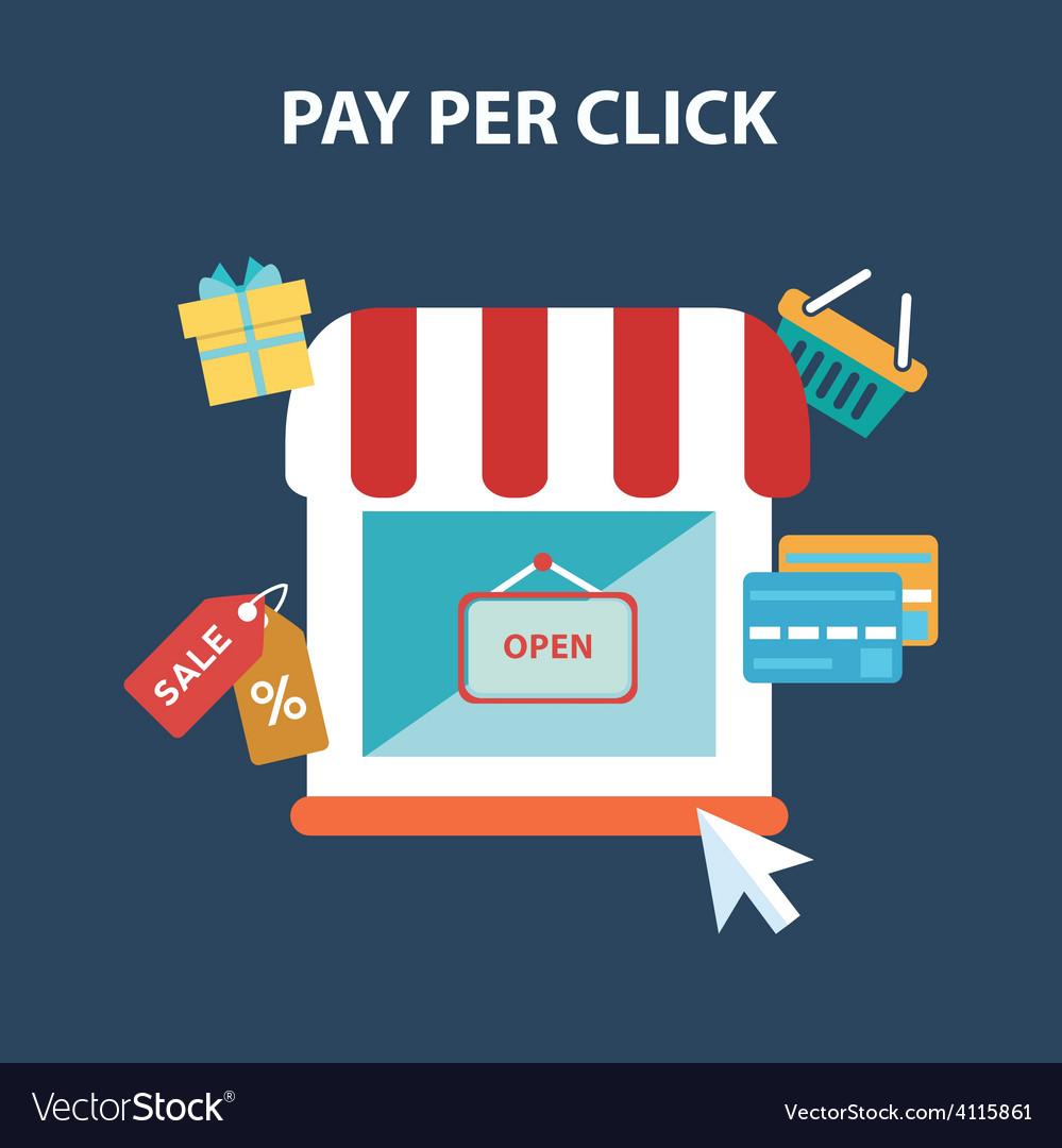 Pay per click vector | Price: 1 Credit (USD $1)