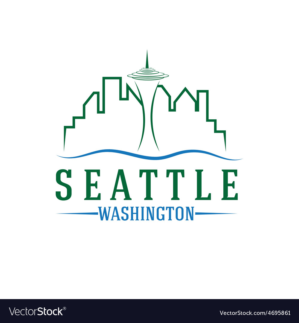 Seattle skyline design template vector | Price: 1 Credit (USD $1)