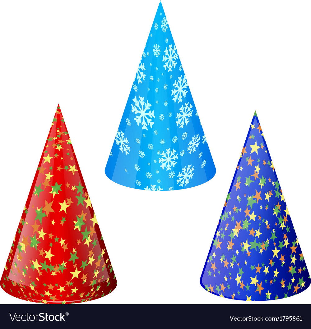 Set of hats for party vector | Price: 1 Credit (USD $1)