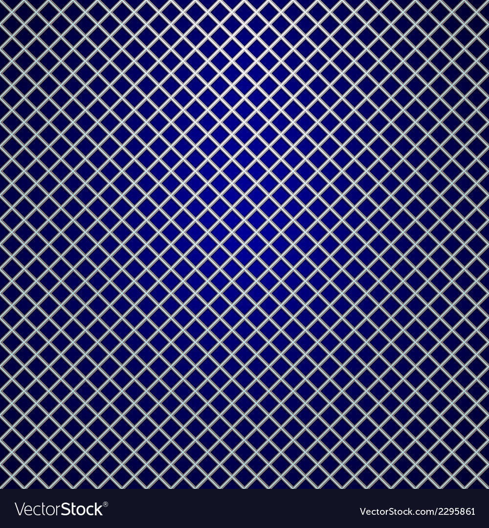 Silver grille on blue background vector | Price: 1 Credit (USD $1)