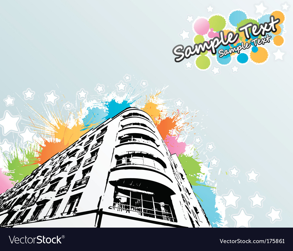 Splats city building vector | Price: 1 Credit (USD $1)