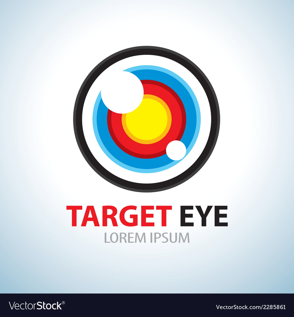 Target eye symbol icon vector | Price: 1 Credit (USD $1)