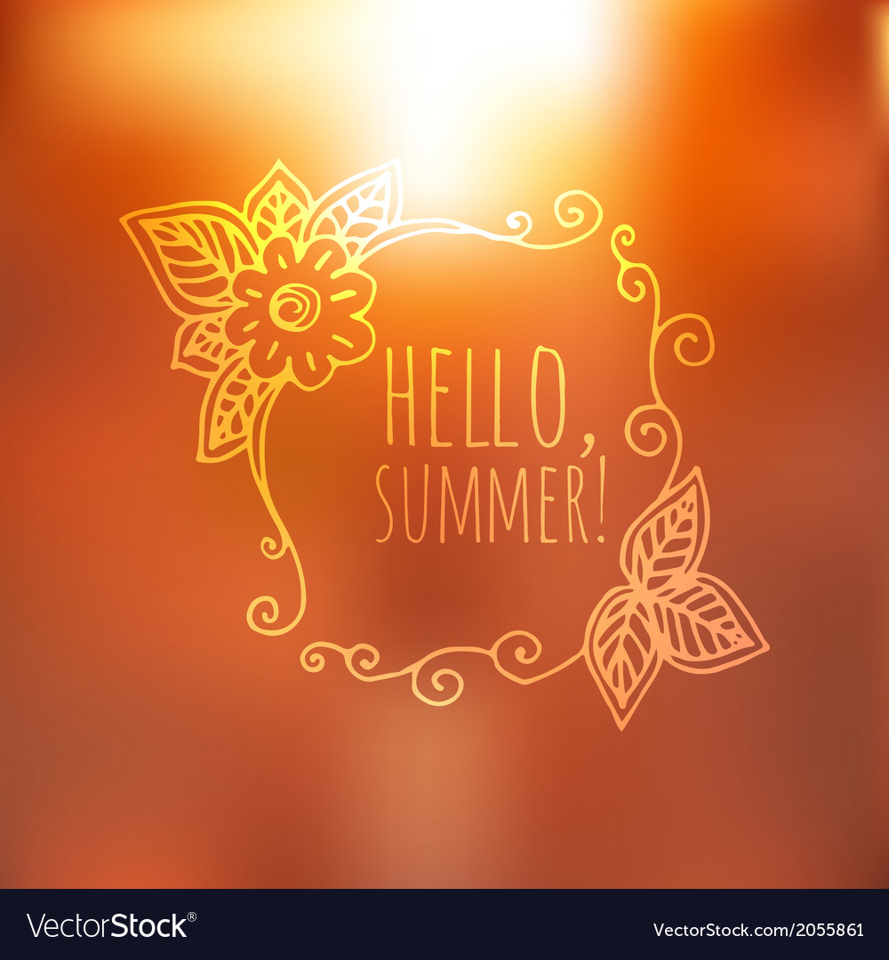 Unfocused summer poster vector | Price: 1 Credit (USD $1)