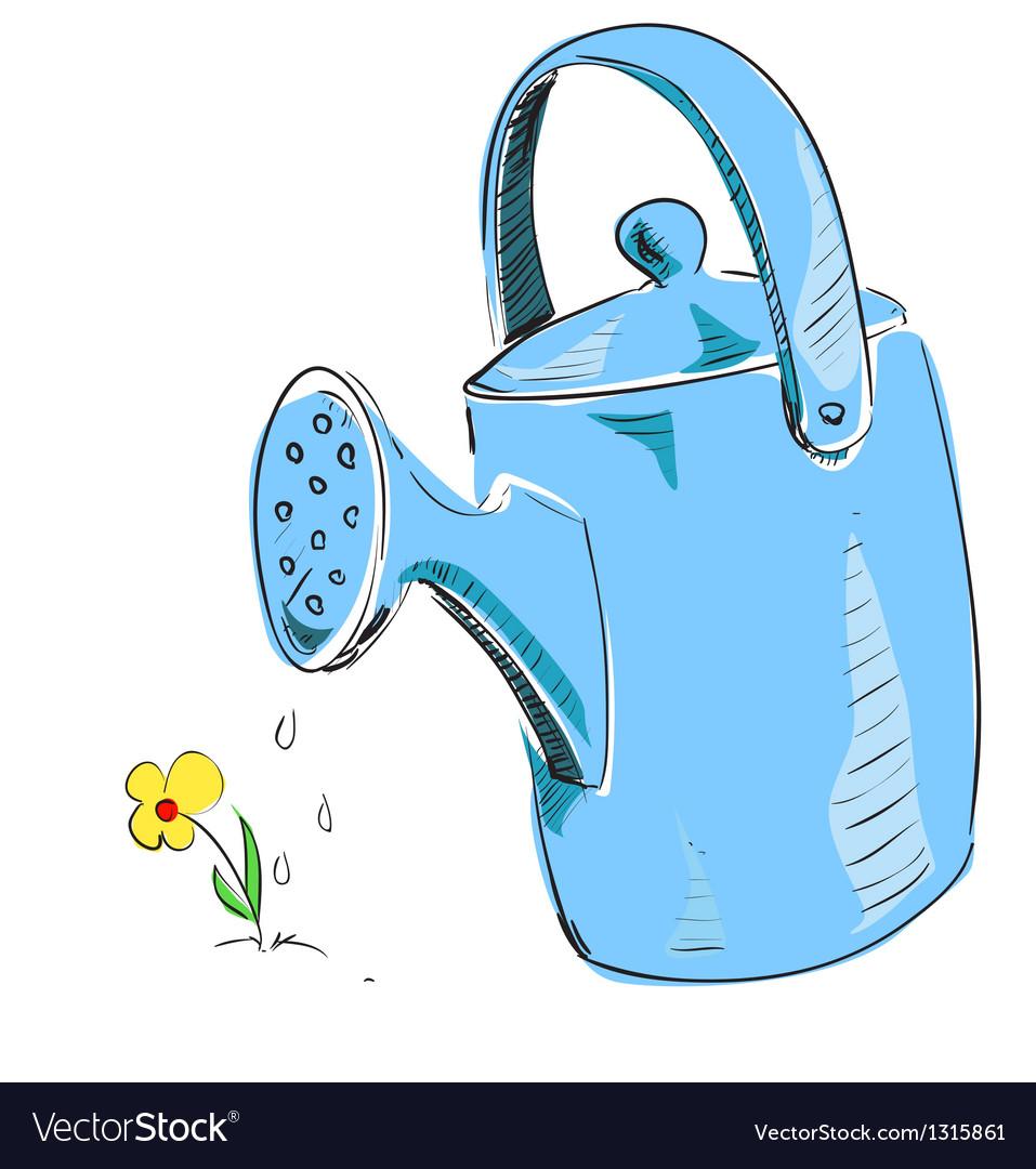 Watering can cartoon icon vector | Price: 1 Credit (USD $1)