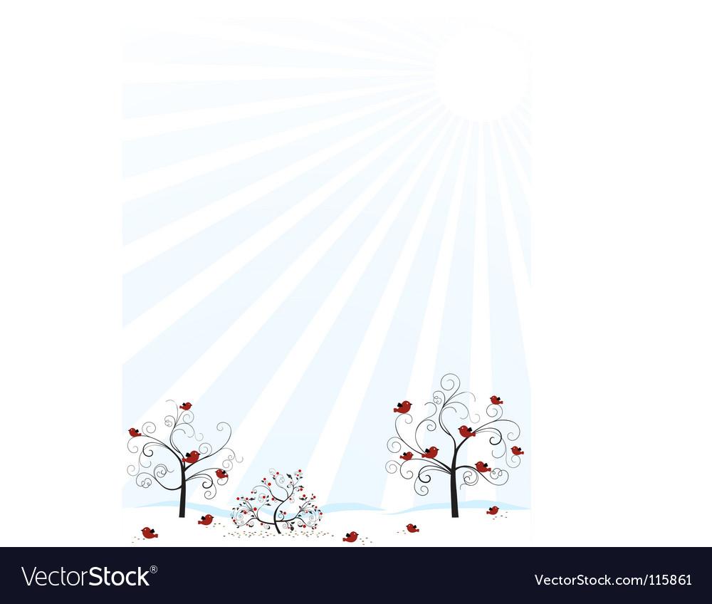 Winter scene vector | Price: 1 Credit (USD $1)