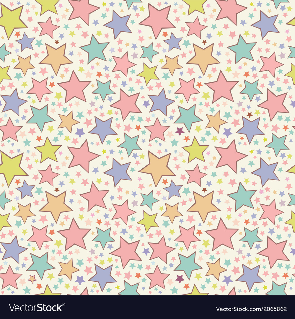 Colorful stars seamless pattern vector | Price: 1 Credit (USD $1)