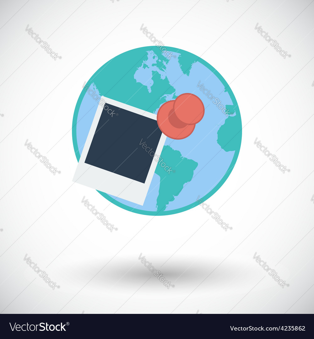Geotegirovanie single flat icon vector | Price: 1 Credit (USD $1)