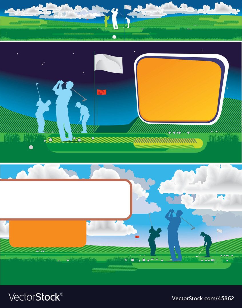 Golf-panorama vector | Price: 1 Credit (USD $1)
