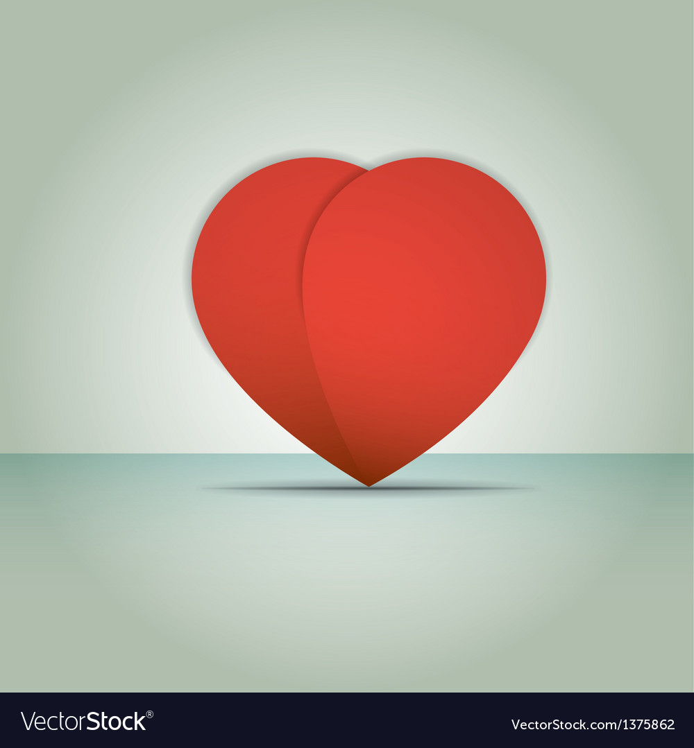 Heart paper valentines day card vector | Price: 1 Credit (USD $1)