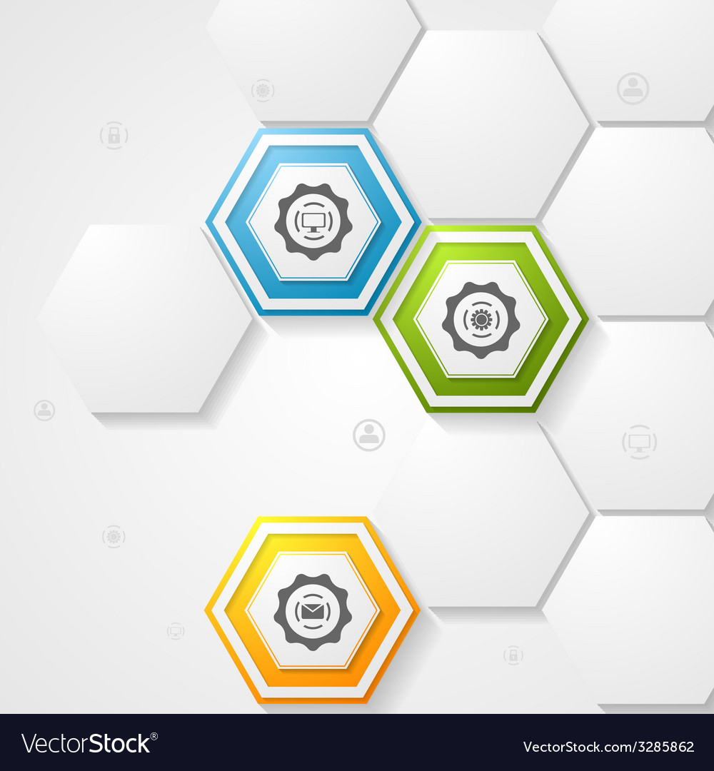 Hexagons infographic design vector | Price: 1 Credit (USD $1)