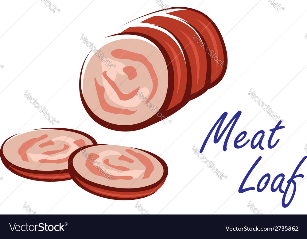 Meat loaf food icon vector | Price: 1 Credit (USD $1)