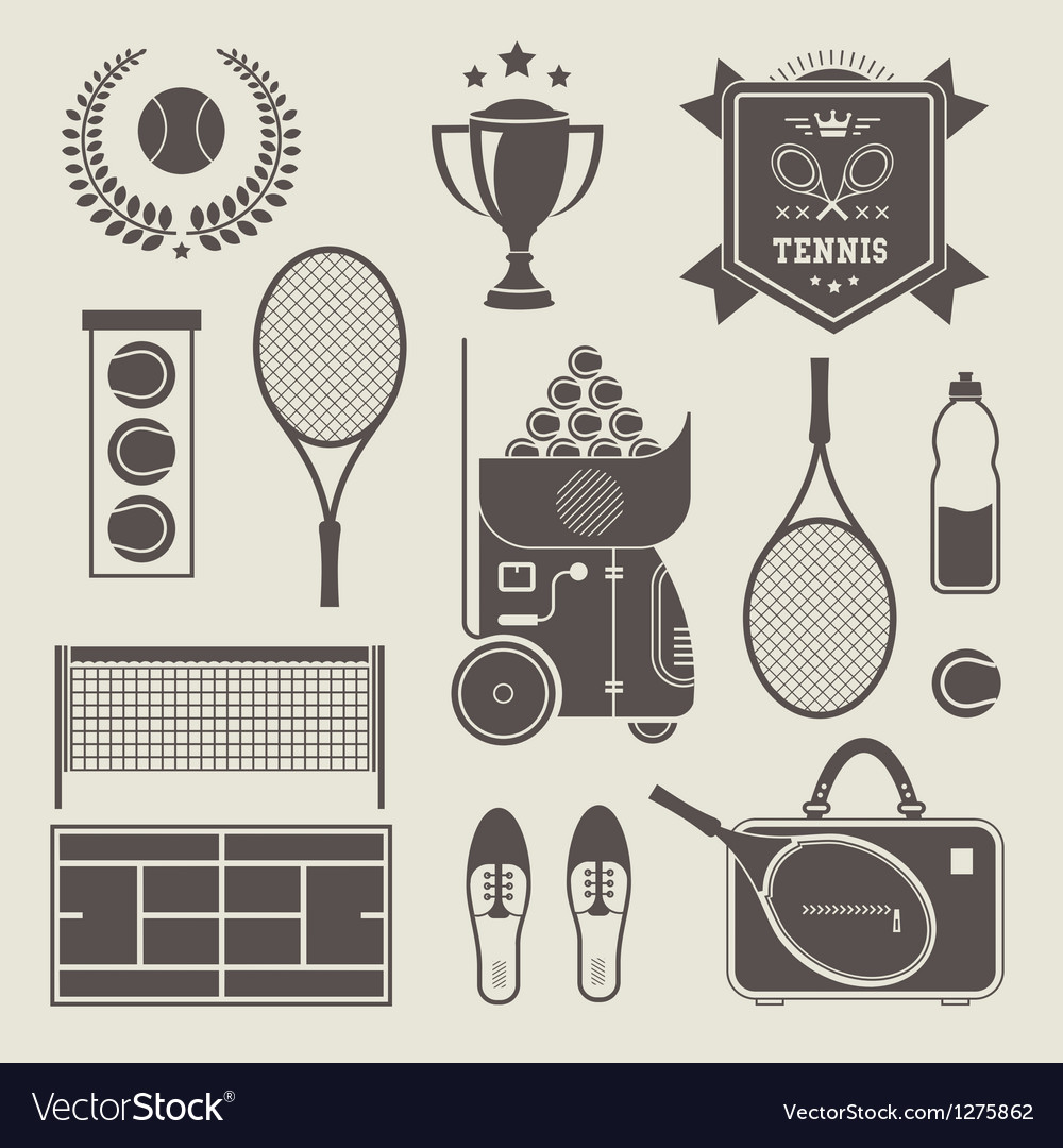 Tennis icons vector | Price: 3 Credit (USD $3)