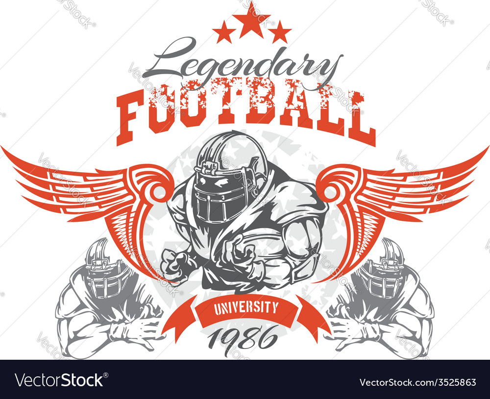American football - for t-shirt vector | Price: 3 Credit (USD $3)