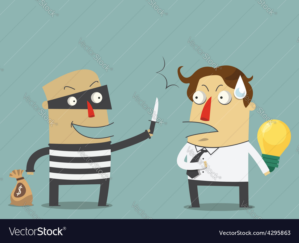 Bandit robbing the idea of a businessman vector | Price: 1 Credit (USD $1)