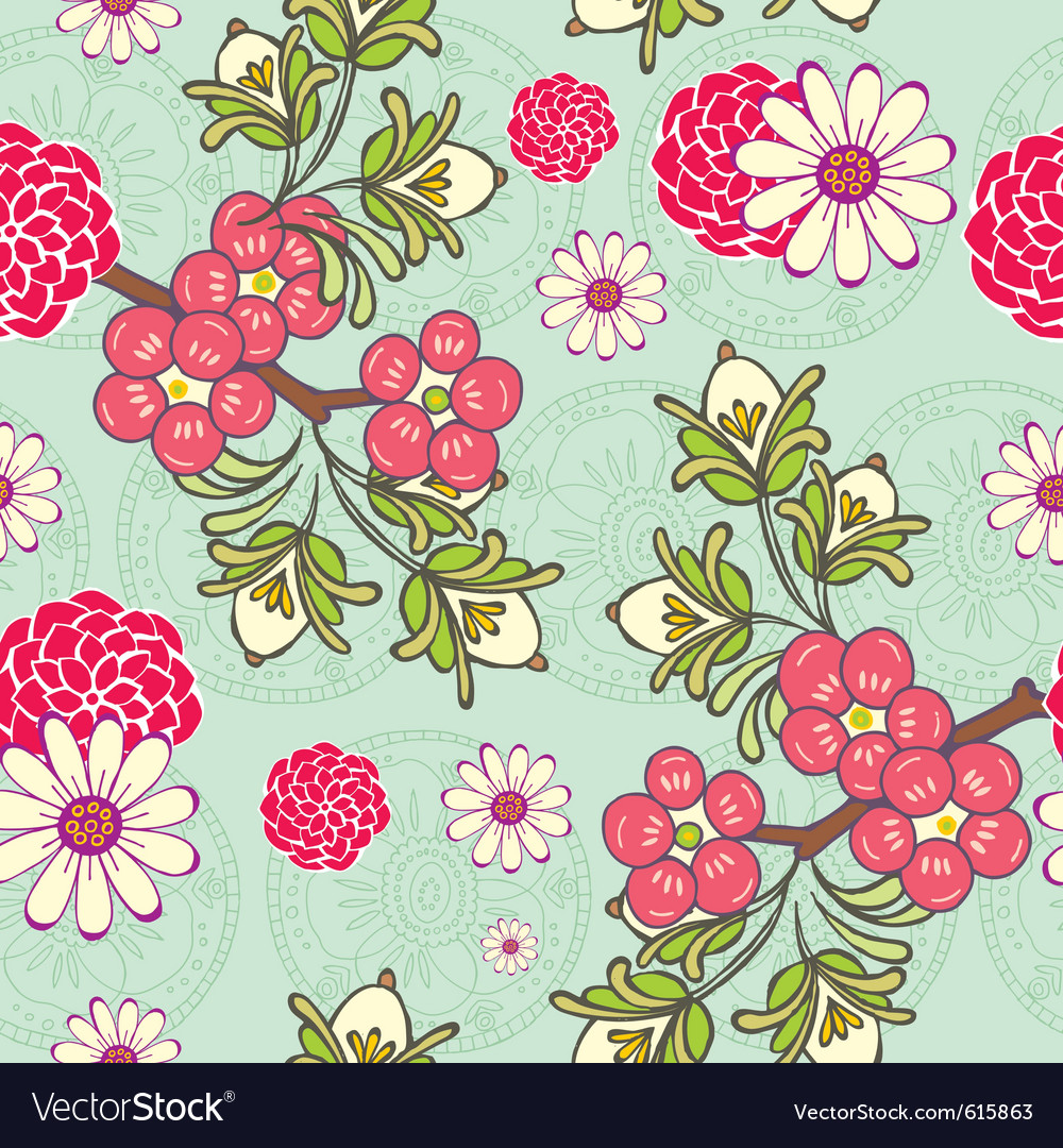Cute seamless wallpaper vector | Price: 1 Credit (USD $1)
