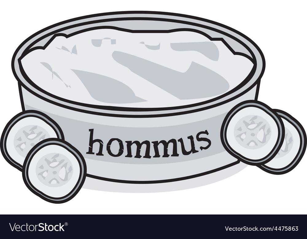 Hummus vector | Price: 1 Credit (USD $1)